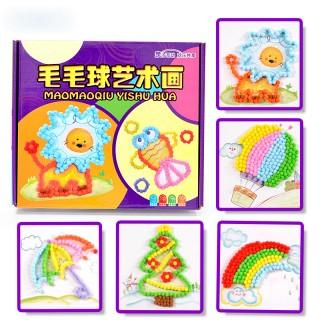 手工涂色填色画幼儿园宝宝diy涂鸦画玩具圣诞礼物