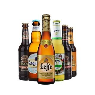 比利时原装进口福佳白啤酒德国精酿进口小麦黑啤酒6