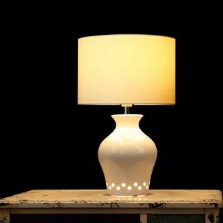 创意陶瓷镂空手工雕花台灯