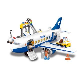 空中巴士大型飞机模型大颗粒拼装积木玩具