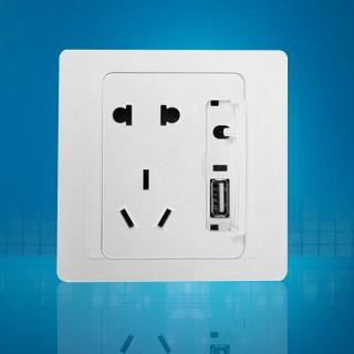 55e系列五孔二三插带usb插座手机充电