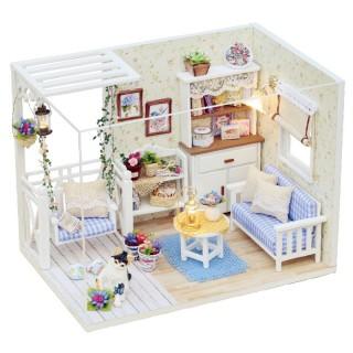 精美小房子 萌小猫咪主题创意diy小屋