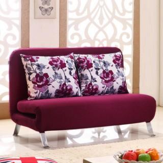 金海马商城 紫红色布艺功能沙发床vv955 ¥1999 返 379.