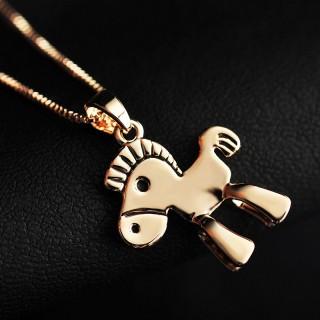 可爱小马项链